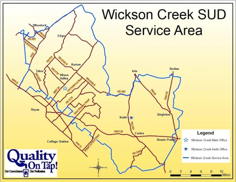 Wickson Creek Service Area Map